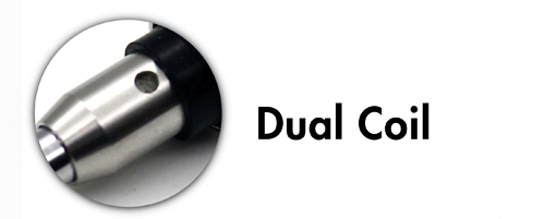 DC 2 - Glass Cart -  Top Airflow - Dual Titanium Cotton Wick - Gun Metal BOTTLES