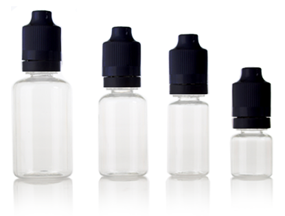 ELIQUID CHILD RESISTANT DROPPER - CLEAR PET BOTTLES
