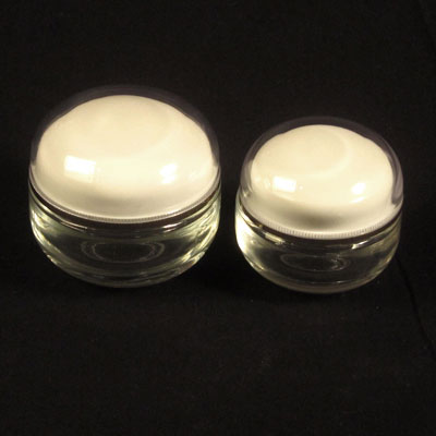 COSMETIC ROUND JARS - GLASS BOTTLES