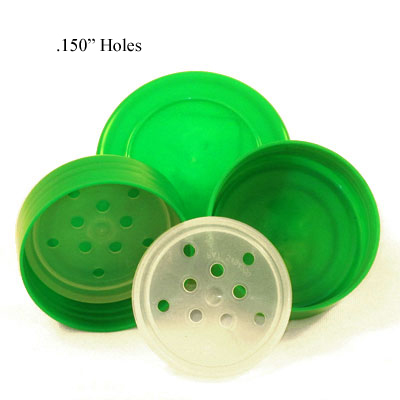 SPICE CAPS WITH SIFTER - GREEN