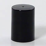 ROLL-ON CYLINDER CLOSURES - SMOOTH SIDED - BLACK