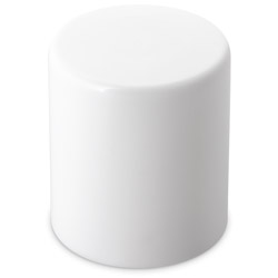 EXTRA TALL SMOOTH CHILD RESISTANT PUSH DOWN AND TURN CLOSURE WITH LINER - WHITE CAPS