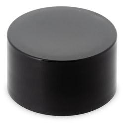 SMOOTH SIDED SYRINGE BOTTLE CHILD RESISTANT CLOSURE - BLACK CAPS