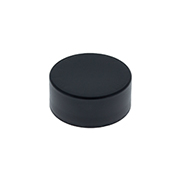 CHILD RESISTANT SMOOTH SIDED FOIL LINED - no text - Matte Black CAPS