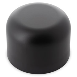 Extra Tall Dome Child Resistant Closures - No Text - PE LINED Black Matte