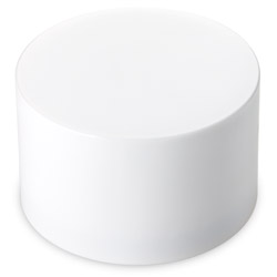 Extra Tall Smooth Sided Child Resistant Closures - No Text - PE LINED White CAPS