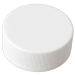CHILD RESISTANT - RIBBED - WHITE NO TEXT - PTFE - TEFLON LINED CAPS