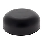 CHILD RESISTANT MATTE FINISH DOME CLOSURES - PE LINED - MATTE BLACK CAPS