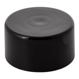 Smooth Cartridge Container Child Resistant Push down and Turn Closure with liner - BLACK CAPS