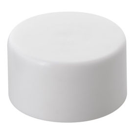 Smooth Cartridge Container Child Resistant Push down and Turn Closure with liner - WHITE CAPS