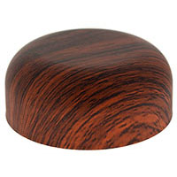 CHILD RESISTANT DOME CLOSURES - PE LINED - REDWOOD PRINTED CAPS