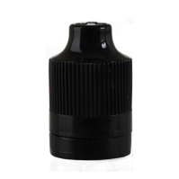 CHILD RESISTANT CAP FOR PET PEN BOTTLE - BLACK