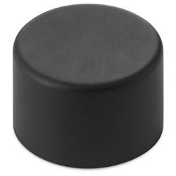 Dome Child Resistant Closure PE Lined Matte Black CAPS