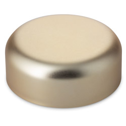 DOME CLOSURE CHILD RESISTANT FOIL LINED - GOLD CAPS