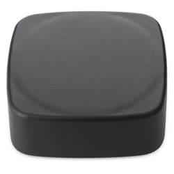 CHILD RESISTANT SMOOTH SIDED SQUARE FOIL LINED - NO TEXT -  BLACK MATTE CAPS