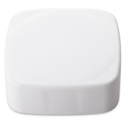 CHILD RESISTANT SMOOTH SIDED SQUARE FOIL LINED - NO TEXT -  WHITE MATTE CAPS