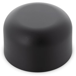 TALL DOME CHILD RESISTANT CLOSURES - NO TEXT - PE LINED BLACK MATTE CAPS