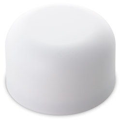 TALL DOME CHILD RESISTANT CLOSURES - NO TEXT - PE LINED WHITE MATTE CAPS