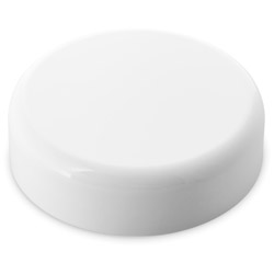 ROUNDED EDGE CHILD RESISTANT CLOSURE PE LINED - GLOSS WHITE CAPS