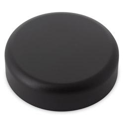 ROUNDED EDGE CHILD RESISTANT CLOSURE PE LINED - MATTE BLACK CAPS