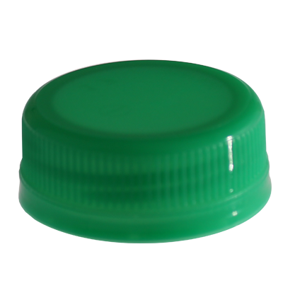 JUICE BOTTLE CAPS - TAMPER EVIDENT -  GREEN CAPS
