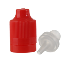 ELIQUID CHILD RESISTANT AND TAMPER EVIDENT OVERCAP - RED WITH LONG TIP PLUG