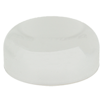 CHILD RESISTANT - METALLIZED DOME CLOSURES - PE LINED - SILVER