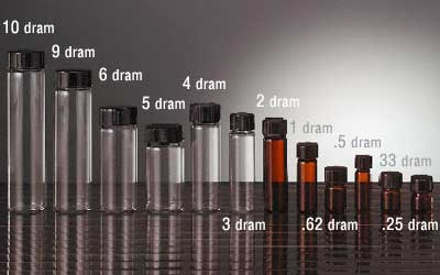 GLASS VIALS BOTTLES