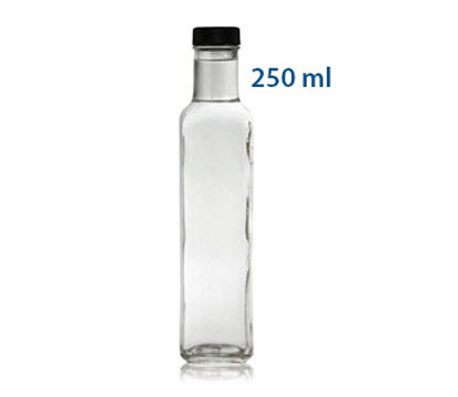 MARASCA - SQUARE GLASS BOTTLES