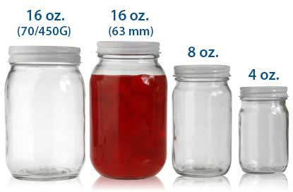 ROUND GLASS JARS (ECONOMY)  BOTTLES