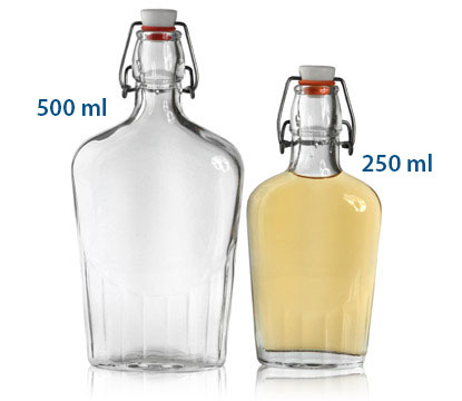 SWING TOP FLASK - GLASS BOTTLES