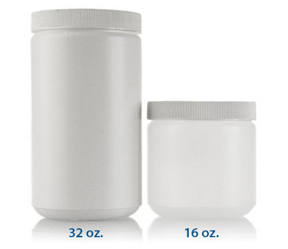 WIDE MOUTH STRAIGHT SIDED PLASTIC JARS - HDPE BOTTLES