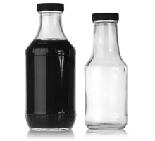 BBQ SAUCE ROUND - GLASS BOTTLES