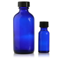 BOSTON ROUND - COBALT BLUE - GLASS BOTTLES