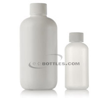 BOSTON ROUND PLASTIC BOTTLES - HDPE