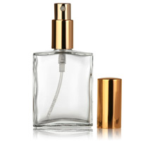 FRAGRANCE OBLONGS WITH GOLD  PUMPS - GLASS BOTTLES