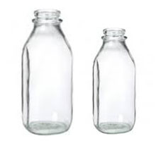 GLASS MILK BOTTLES - REFILLABLE