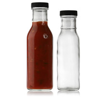 RING NECK SAUCE ROUND GLASS BOTTLES