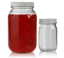 plastic and glass jars