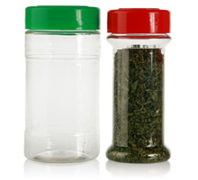 SPICE JARS - CLEAR PET (sizes in fluid ounces)