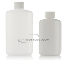 STRAIGHT SIDED OVAL PLASTIC BOTTLES - HDPE