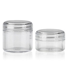 THICK WALL PLASTIC JARS ROUND BASE - PS BOTTLES