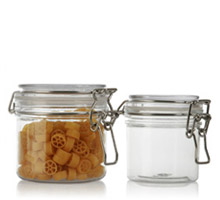 ROUND WIRE BAIL JARS - PET PLASTIC