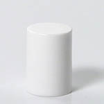 ROLL-ON CYLINDER CLOSURES SMOOTH SIDED - WHITE
