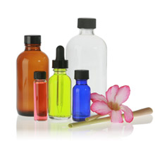 Aromatherapy Glass and Plastic Bottles