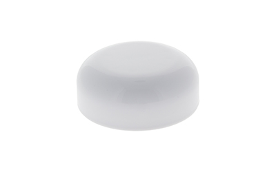 DOME CHILD RESISTANT - 2mm PE - GLOSS WHITE