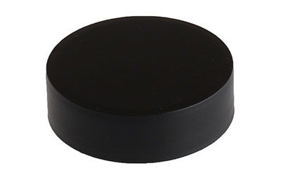 Smooth Sided Matte Black Child Resistant - No Text - Lift & Peel Heat Seal Liner with Foam Backing
