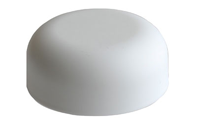 CHILD RESISTANT MATTE FINISH DOME CLOSURES - 2mm PE LINED - MATTE WHITE
