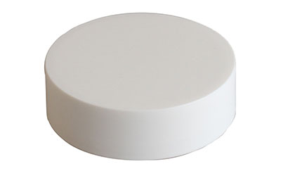 CHILD RESISTANT - MATTE FINISH SMOOTH SIDED - NO TEXT - PE LINED CLOSURES - MATTE WHITE