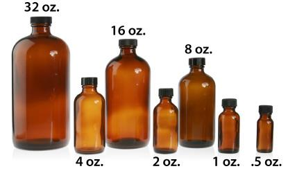 BOSTON ROUND - AMBER - GLASS  BOTTLES